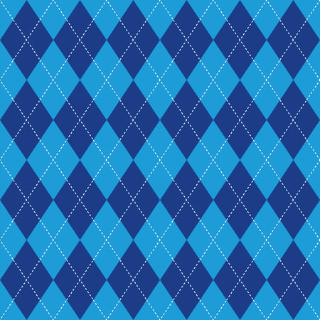 basic: Argyle basic seamless texture blue rhombus Illustration