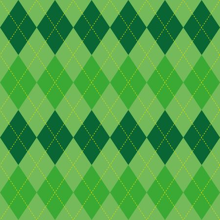basic: Argyle basic seamless texture green rhombus Illustration