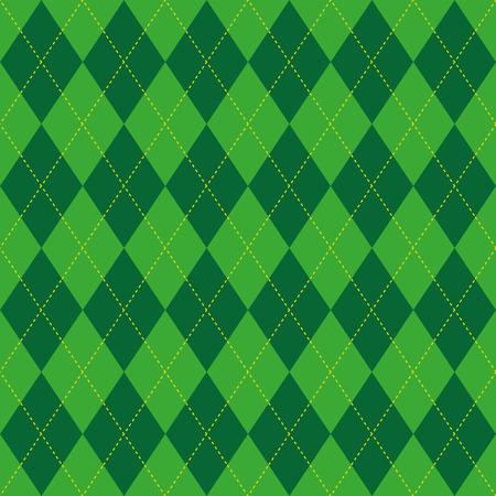 Argyle basic seamless texture green rhombus Illustration