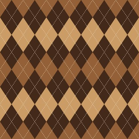 basic: Argyle basic seamless texture brown rhombus pattern Illustration