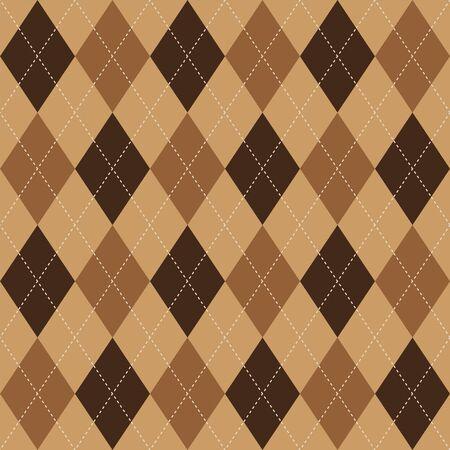 argyle: Argyle basic seamless texture brown rhombus pattern Illustration