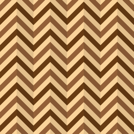 wallpaper abstract: Chevron Zigzag, compressed paper, wallpaper. Abstract brown shades background, seamless texture, vector Illustration