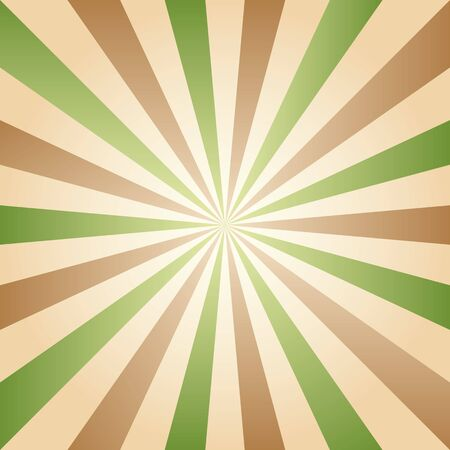 photographic effects: Vintage abstract background explosion of green and brown rays. Vector illustration