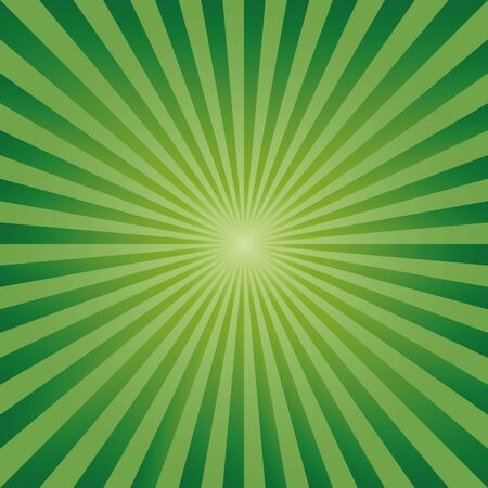 photographic effects: Vintage abstract background explosion of green rays. Vector illustration