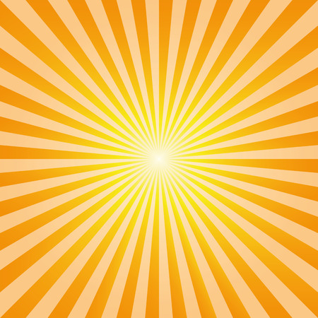 natural phenomenon: Vintage abstract background explosion of yellow and orange rays of the sun. Vector illustration