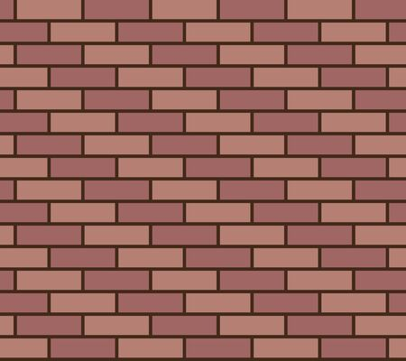 wall covering: Wall of red and pink bricks. Illustration