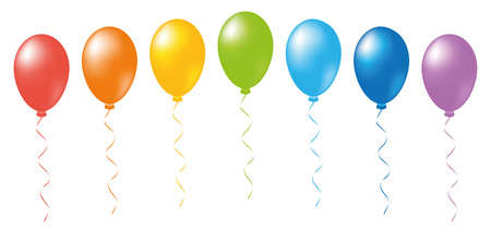 event party: Balloons rainbow. Isolated objects on a white background, vector