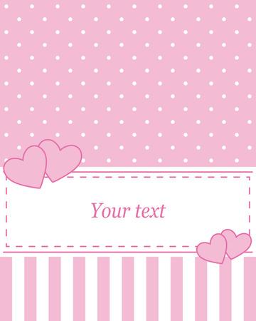 vector de color rosa elegante, invitación de la publicidad o de la boda con los lunares. Sobre un fondo blanco, puede escribir su propio mensaje