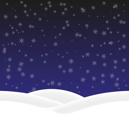 drifts: Winter background with snowflakes and snow drifts. Vector, seamless pattern Illustration