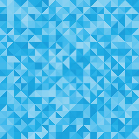 mosaic background: Abstract background blue triangles. Vector, seamless repeating pattern, mosaic
