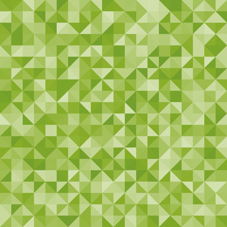 retro styled imagery: Abstract background green triangles. Vector, seamless repeating pattern, mosaic