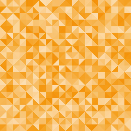 Abstract background orange triangles. Vector, seamless repeating pattern, mosaic