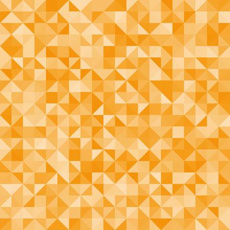 fond abstrait triangles orange. Vector, pattern répétitif, mosaïque