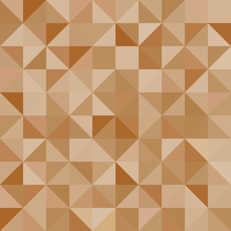 diamond shape: Abstract background brown triangles. Vector, seamless repeating pattern, mosaic
