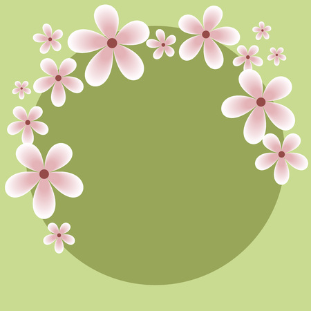 Fancy Card Mothers Day. You can enter your text. Illustration vector