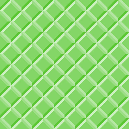 Seamless pattern green tiles. Abstract background, vector illustration