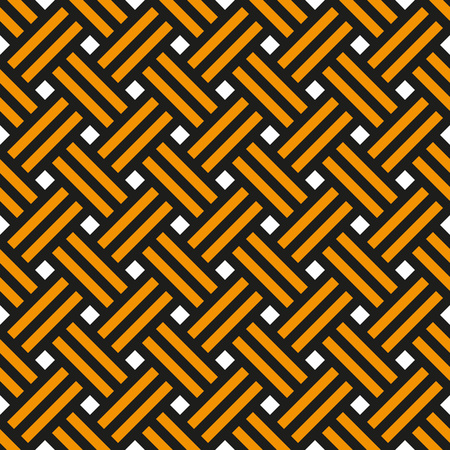 Background network of black and orange ribbons of St. George. Seamless pattern, vector illustration