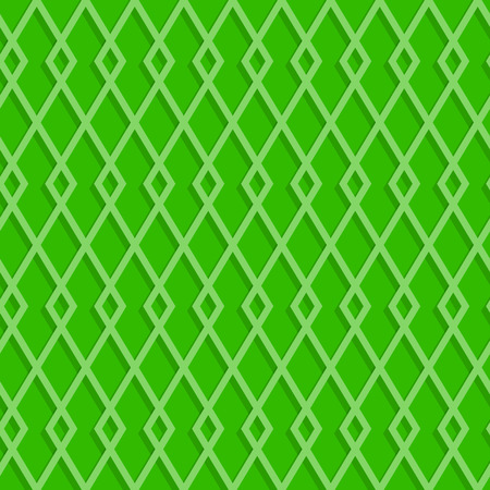 A seamless pattern of rhombuses on a green abstract background, vector illustration