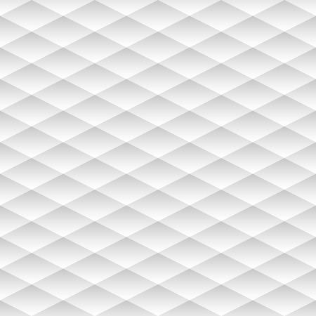 Neutral geometric background light gray rhombuses. Seamless pattern, vector illustration
