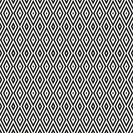 Seamless neutral background with black and white rhombuses. Abstract geometric pattern, vector illustration