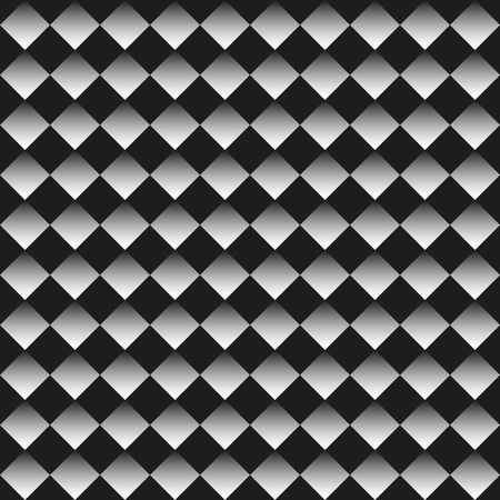 Seamless neutral background black and white rhombuses, chessboard. Abstract geometric pattern, vector illustration 矢量图像
