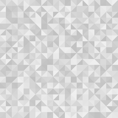 Neutral abstract background of gray triangles. A dotted seamless pattern, a mosaic. Vector illustration