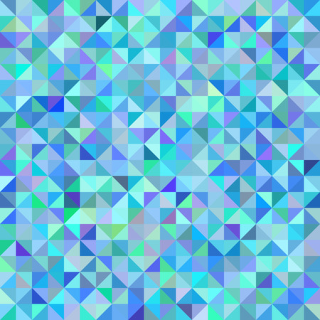 Neutral abstract geometric background triangles blue green scale. Dotted seamless repeating pattern, vector, mosaic, illustration
