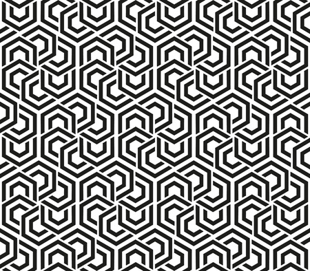 Seamless neutral background black and white hexagons. Abstract geometric pattern, illustration, vector design 矢量图像