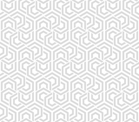 Seamless neutral background gray and white hexagons. Abstract geometric pattern, illustration, vector design
