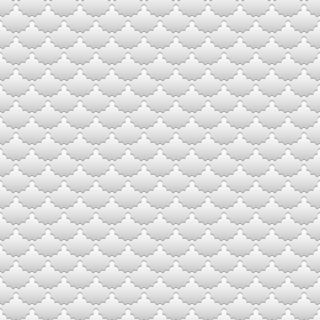 Wavy gray scales with shadow, abstract neutral geometric background. Seamless pattern, vector illustration 矢量图像