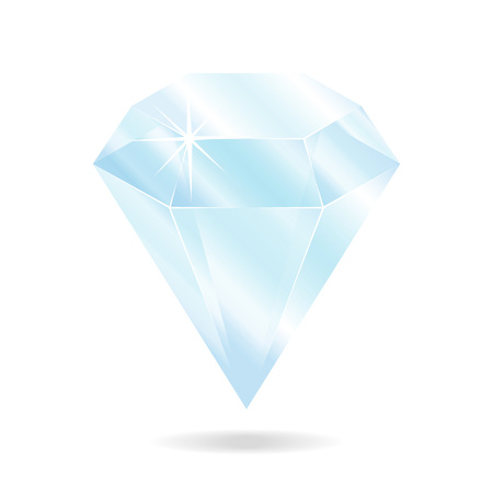 Diamond gemstone. Isolated object on a white background, vector illustration 矢量图像