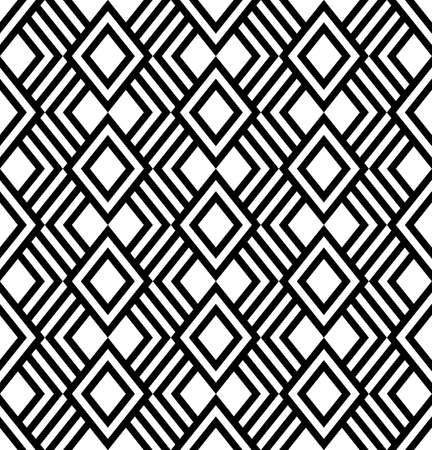 Geometric black and white abstract background. Seamless pattern, vector illustration 矢量图像