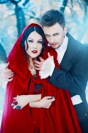 Red Riding Hood in love with a prince