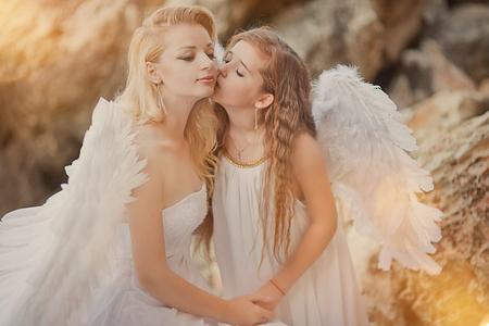 Engelen op het strand