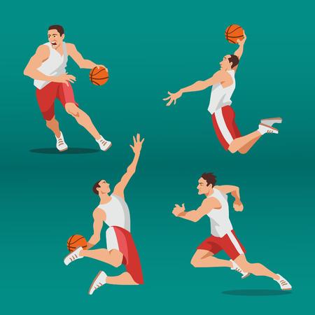 Jugador de baloncesto que hace girar la bola.