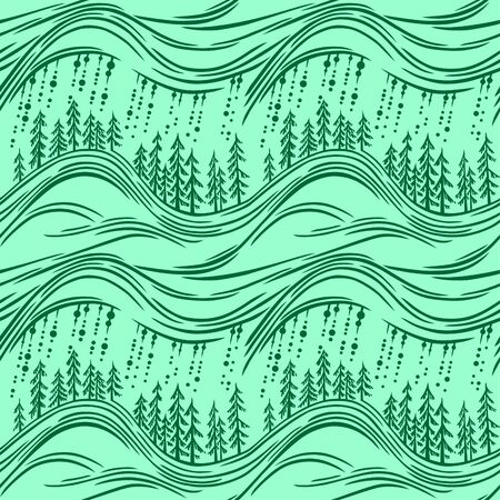 simplified: Seamless pattern with forest.