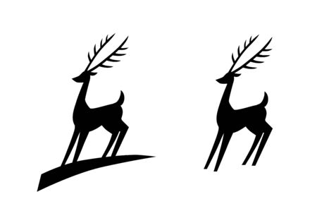 sihlouette: A stylized vector deer