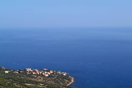 Black Sea coastline with several villas