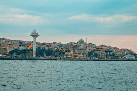 View from the Bosphorus to the Asian side of Istanbul  Istanbul, Turkey  March, 2013