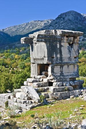 tumbas: tumbas antiguas en Sidyma, Turquía Foto de archivo