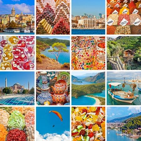 Turkey travel collage Banque d'images