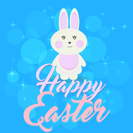 Happy Easter, Eggs, Bunny, Rabbit