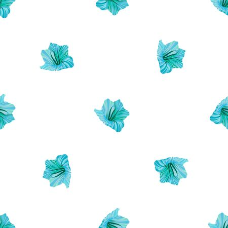 Hibiscus flower. Seamless tropic pattern. Palm background 일러스트