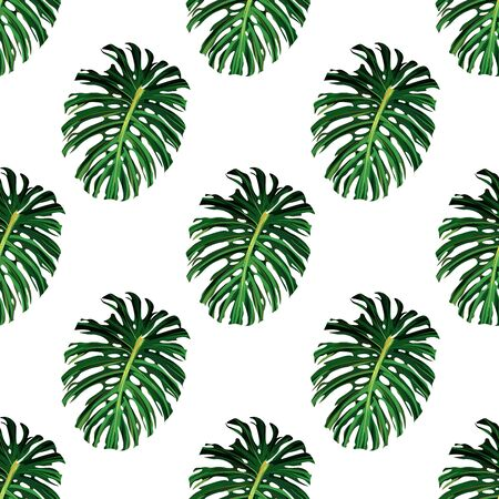 Palm tree. Hibiscus seamless pattern. Flower summer background. 일러스트
