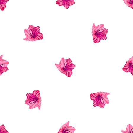 Hibiscus pattern. Tropic palm leaf. Seamless background. 일러스트