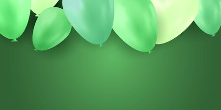 Balloon isolated on colorful background. Birthday vector banner. Gift realistic flyer. Bright balloon.  イラスト・ベクター素材