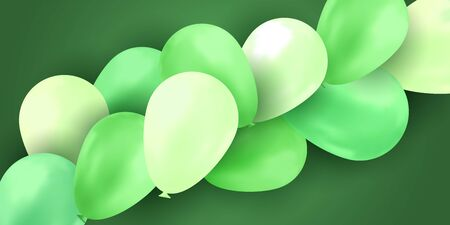 Balloon isolated on colorful background. Birthday vector banner. Gift realistic flyer. Bright balloon