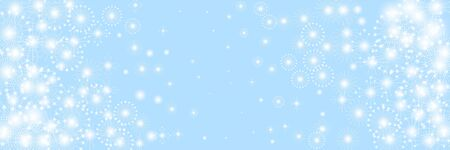 Snow flakes. Beauteous winter silver snowflake overlay template. Fancy vector illustration. Sparce snow