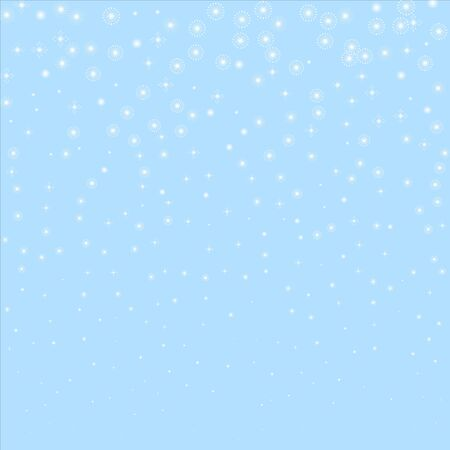 Snowflakes vector. Christmas background. Beauteous winter silver snowflake overlay template. Ilustracja