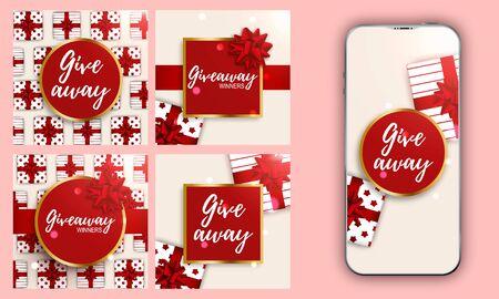 Template Valentines design. Stories layout for social media design background. Trendy editable. Valentine card template Spring sale. Beautiful template design. Illustration